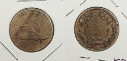 Us Coins - 1858 Flying Eagle 1 Cent Large Letters; Doubled Die Obverse