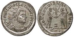 Ancient Coins - Diocletian 284-305 A.D. Antoninianus Antioch Mint EF