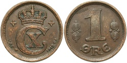 World Coins - DENMARK: 1917 1 Ore