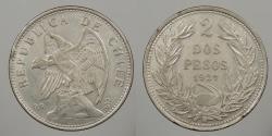 World Coins - CHILE: 1927-So 2 Pesos