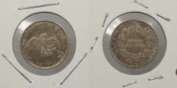 World Coins - CHILE: 1856 1/2 Decimo