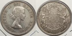 World Coins - CANADA: 1953 No shoulder fold; Small date 50 Cents