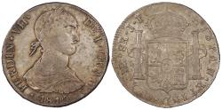World Coins - PERU Ferdinand VII 1810-LIMAE JP 8 Reales Choice AU
