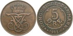 World Coins - DENMARK: 1912 5 Ore