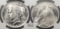 Us Coins - 1921 Peace 1 Dollar (Silver) NGC MS-64