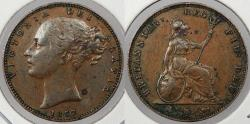 World Coins - GREAT BRITAIN: 1857 Victoria Farthing
