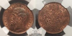 World Coins - ROMANIA: 1900-B 2 Bani NGC MS-63 RB
