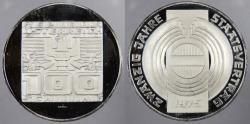 World Coins - AUSTRIA: 1975 20th Anv State Treaty 100 SCHILLING Proof