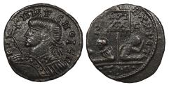Ancient Coins - Barbarous Imitation in the style of Constantine I, II or Licinius I c. 320 A.D. AE3 Unofficial mint imitating Thessalonica. EF
