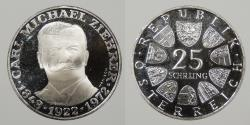World Coins - AUSTRIA: 1972 Proof. 25 Schillings