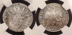 World Coins - MEXICO 1853-Pi MC Real NGC MS-64+