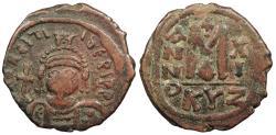 Ancient Coins - Maurice Tiberius 582-602 AD Follis Cyzicus Mint Good Fine