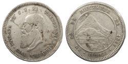 World Coins - BOLIVIA Presidente Mariano Melgarejo 1867 Proclamation 1/2 Melgarejo EF