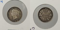 World Coins - CANADA: 1896 5 Cents