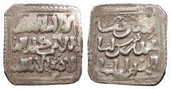 Ancient Coins - al-Maghreb (North Africa) Almohads (al-Muwahhidun) Anonymous Time of Abu Ya'qub Yusuf I to Abu'l-'Ula Idris II (AH558-668, 1163-1269 A.D.) Square Dirham No mint name. VF
