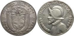World Coins - PANAMA: 1933 1/2 Balboa