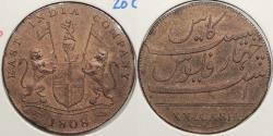 World Coins - INDIA: Madras Presidency 1808 20 Cash