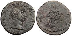 Ancient Coins - Trajan 117-138 A.D. Dupondius Rome Mint VF
