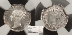 World Coins - GREAT BRITAIN Victoria 1866 Penny NGC MS-65