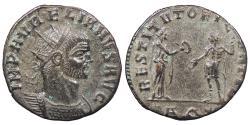 Ancient Coins - Aurelian 270-275 A.D. Antoninianus Uncertain mint Near EF