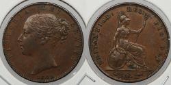 World Coins - GREAT BRITAIN: 1848 Victoria Farthing
