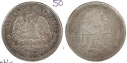 World Coins - MEXICO: 1876/5.-A[s] L 50 Centavos