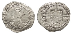 World Coins - FRANCE Besançon Charles V, as Holy Roman Emperor 1530-1556 1/2 Blanc 1550 Good VF