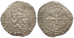 World Coins - FRANCE Charles VI 1380-1422 Gros (Florette) EF