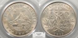 World Coins - BOLIVIA 1919 PCGS MS-65