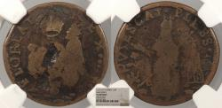Us Coins - 1670 Saint Patrick Farthing Colonial Coinage Sea beasts; stars in legend; Breen 213; W-11500 NGC VG