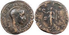 Ancient Coins - Gordian III 238-244 A.D. Sestertius Rome Mint VF