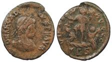 Ancient Coins - Arcadius 383-408 A.D. AE3 Thessalonica Mint VF