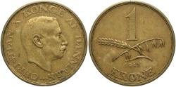 World Coins - DENMARK: 1943 1 Krone
