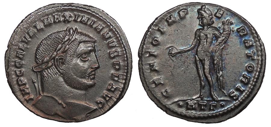 Ancient Coins - Galerius 305-311 A.D. Follis Heraclea Mint EF