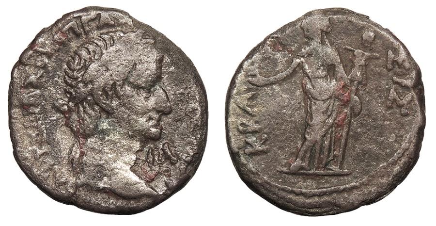 Ancient Coins - Egypt Alexandria Galba 68-69 A.D. Tetradrachm Alexandria Mint Near VF