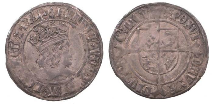 World Coins - ENGLAND Henry VII 1485-1509 Groat Good VF