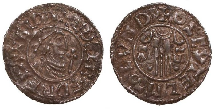 World Coins - ANGLO-SAXON Aethelred II, the Unready 978-1016 Penny VF