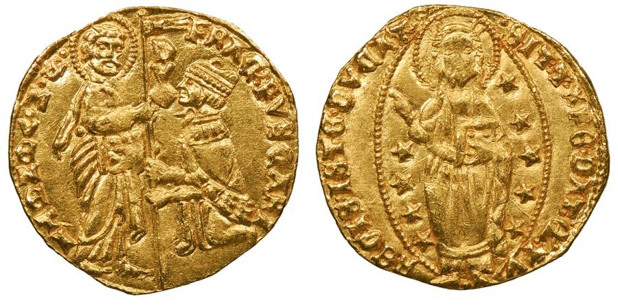 World Coins - ITALIAN STATES Venice  Francesco Foscari 1423-1457 Ducat  UNC