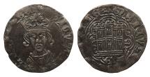 World Coins - SPAIN Castille & Leon Enrique IV (1454-1474)-G Cuartillo (1/4 Real) Good VF