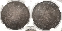 World Coins - MEXICO 1882-Cn JD 8 Reales NGC MS-63