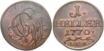 World Coins - GERMAN STATES: Saxe-Gotha-Altenburg 1770 1 Heller
