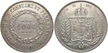 World Coins - BRAZIL: 1856 1000 Reis