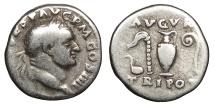 Ancient Coins - Vespasian 69-79 A.D. Denarius Rome Mint Fine