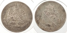 World Coins - MEXICO: Zacatecas 1889-Zs Z 25 Centavos
