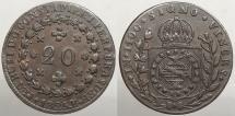 World Coins - BRAZIL: 1825-R 20 res