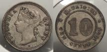 World Coins - MAURITIUS: 1889-H 10 Cents