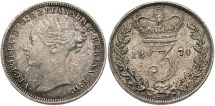 World Coins - GREAT BRITAIN: Victoria 1874 Threepence
