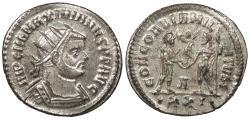 Ancient Coins - Maximianus 286-305 A.D. Antoninianus Heraclea Mint EF
