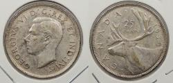 World Coins - CANADA: 1938 George VI 25 Cents