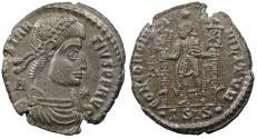 Ancient Coins - Constantius II 337-361 A.D. Follis Siscia Mint EF